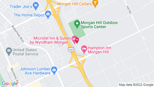 Microtel Inn & Suites by Wyndham Morgan Hill/San Jose Area Map