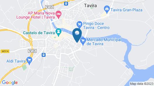 Hotel Vila Gale Tavira Map