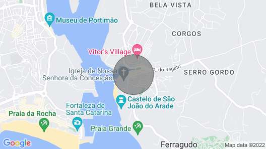 Your Home in Ferragudo, a secret in Algarve, Portugal Map