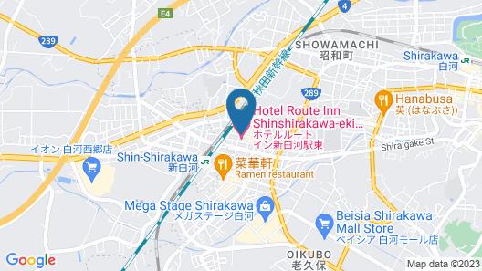 Hotel Route-Inn Shin Shirakawa Eki Higashi Map