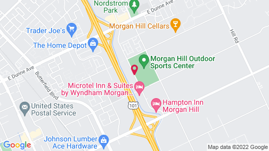 Executive Inn and Suites Morgan Hill Map