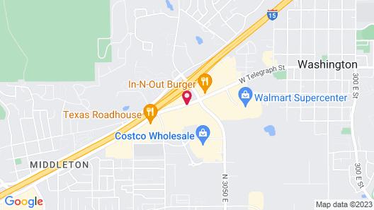 Quality Inn Washington - St George North Map