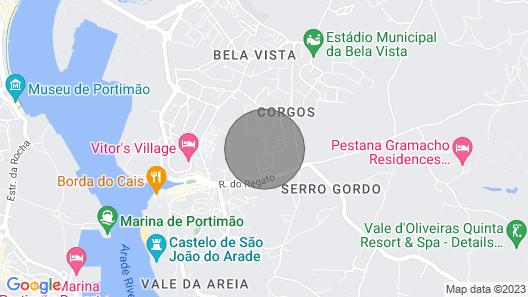 Ferragudo Entire Villa Perfect for Families Beach Map