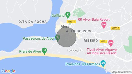 Nice and Cozy Villa Near the Beaches of Alvor Map