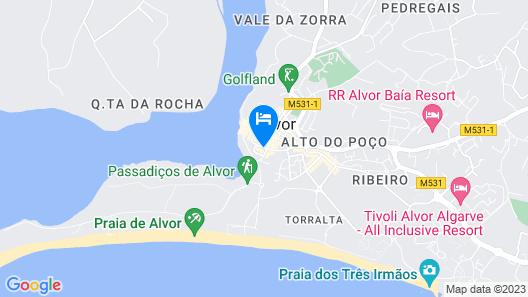 Ria Hostel Alvor Map