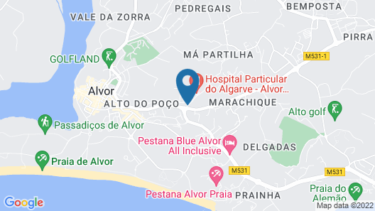 Clube Alvorférias Map
