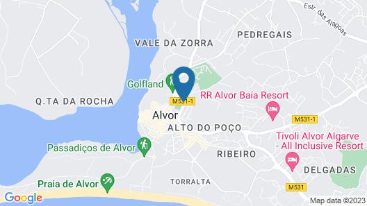 Agua Hotels Alvor Jardim Map