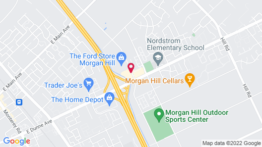 Holiday Inn Express Hotel & Suites San Jose-Morgan Hill, an IHG Hotel Map