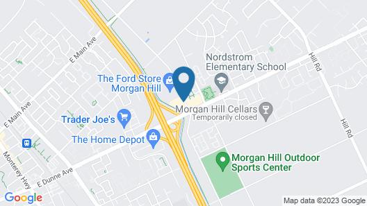 Holiday Inn Express Hotel & Suites San Jose-Morgan Hill, an IHG Hotel Map