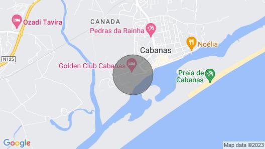 Apartment at Golden Club, Cabanas de Tavira Map