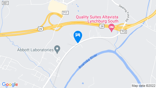 Quality Suites Altavista - Lynchburg South Map