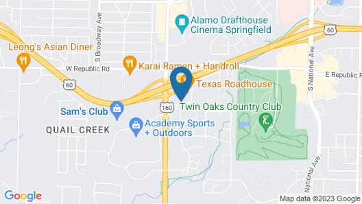 Sleep Inn Springfield South I60 near Medical District Map