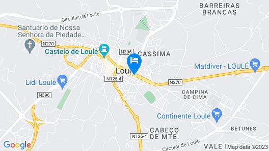 Loulé Coreto Hostel Map