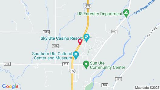 Sky Ute Casino Resort Map