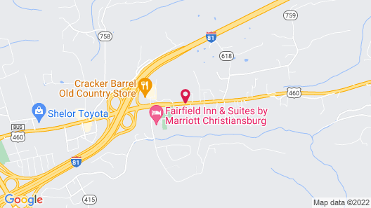 Super 8 by Wyndham Christiansburg Map