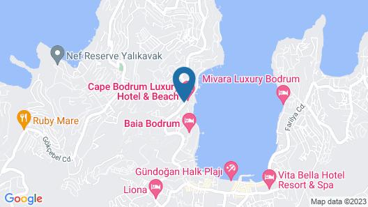 Cape Bodrum Beach Resort Map