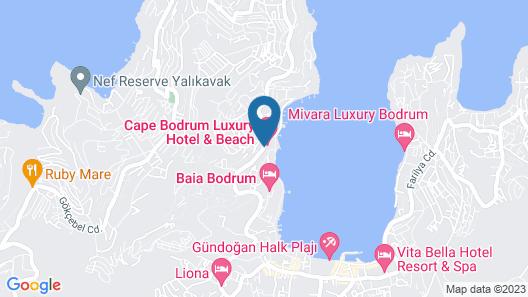 Cape Bodrum Luxury Hotel & Beach Map