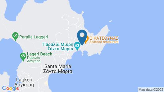 Seven Santa Maria Paros Boutique Hotel Map