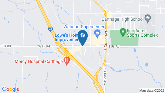 Super 8 by Wyndham Carthage Map