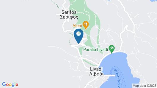 Sea View Villa at Livadi Map