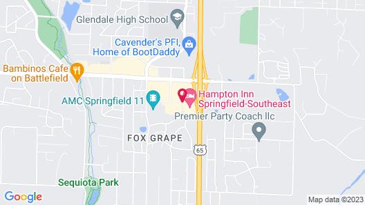Hampton Inn Springfield-Southeast Map