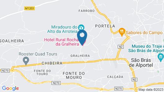 Hotel Rural Rocha da Gralheira Map