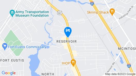 Motel 6 Newport News, VA - Fort Eustis Map