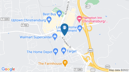 Super 8 by Wyndham Christiansburg/Blacksburg Area Map