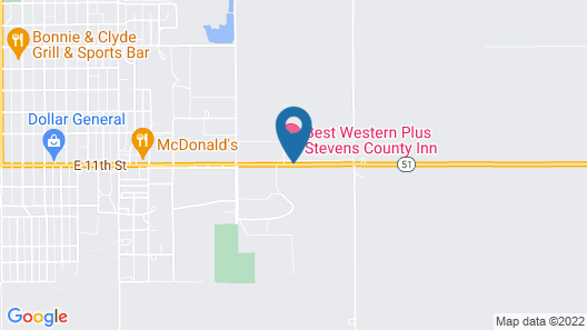 Best Western Plus Stevens County Inn Map