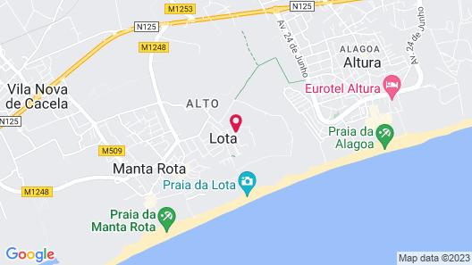 Praia da Lota Resort - Apartments Map