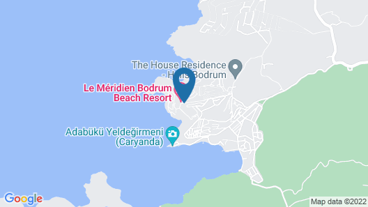 Le Méridien Bodrum Beach Resort Map