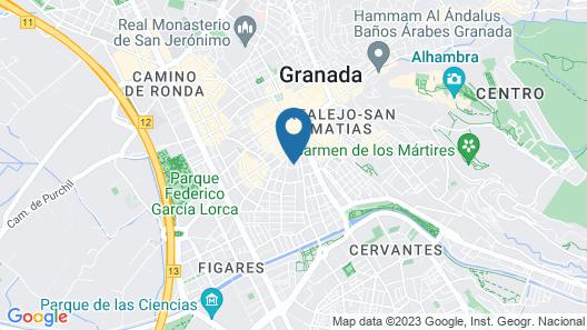 Granada INN Hostel Map