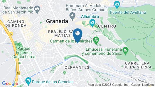 Apartamentos Campo del Príncipe Map