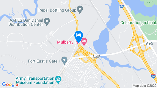 Comfort Inn Newport News/Williamsburg East Map