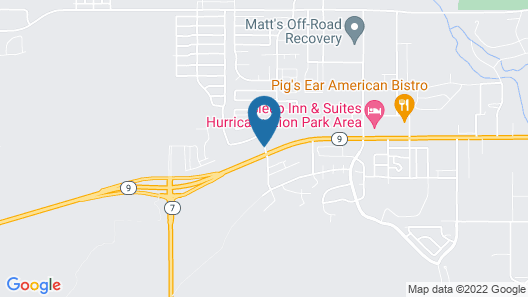 Quality Inn Zion Park Area Map