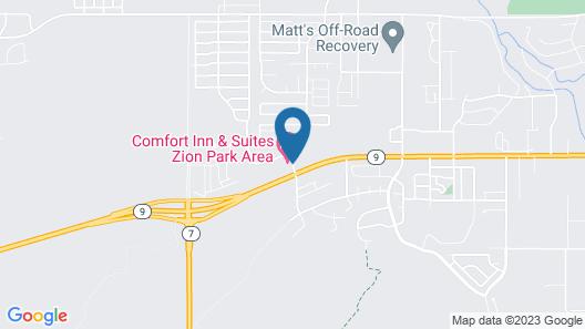 Comfort Inn & Suites Zion Park Area Map