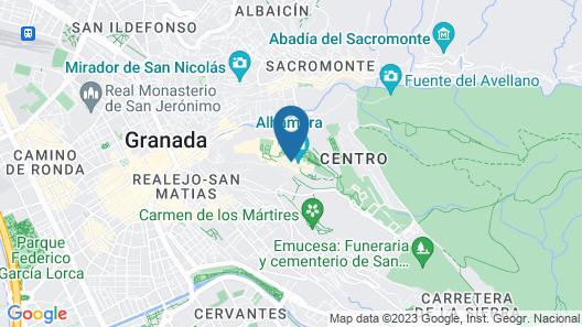 Parador de Granada Hotel  Map