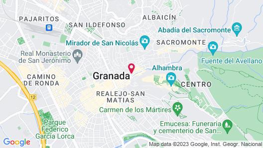 Hotel Casa 1800 Granada Map