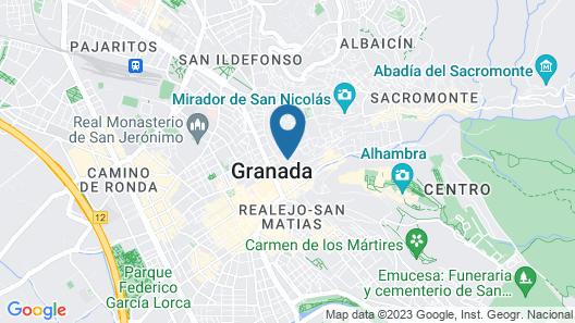 Oasis Backpackers Hostel Granada Map