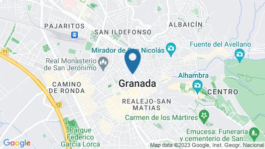Granada Five Senses Rooms & Suites Map