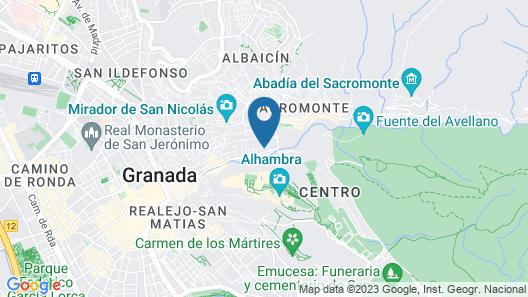 Comfortable Apartment in Granada Near ski Area With Balcony Map