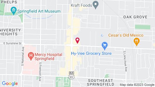 Vīb Best Western Springfield Map