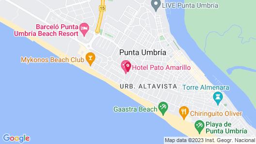 Apartamentos Costaluz Punta Umbria Map
