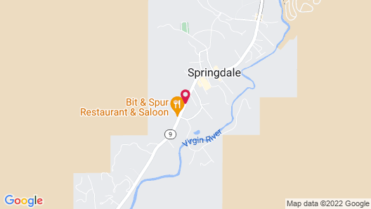 Hampton Inn & Suites Springdale/Zion National Park Map