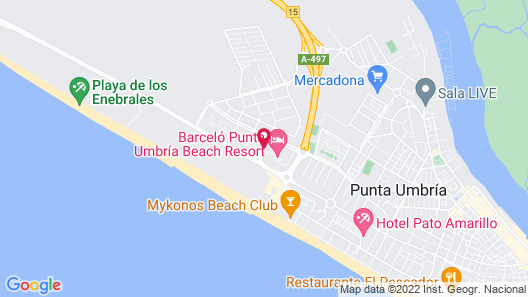 Barceló Punta Umbria Beach Resort Map