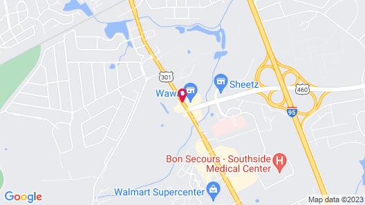 Super 8 by Wyndham Petersburg Map