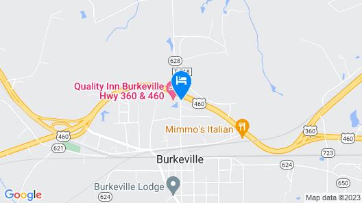 Quality Inn Burkeville Hwy 360 & 460 Map