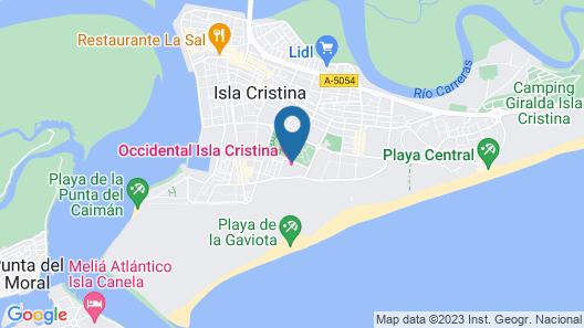 Occidental Isla Cristina Map