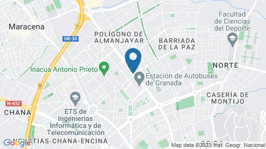 B&B Hotel Granada Estación Map