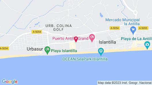 Hotel ILUNION Islantilla Map